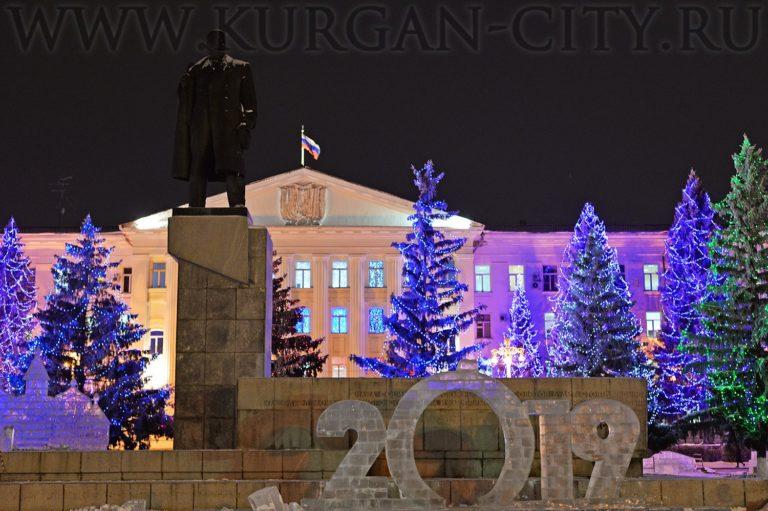 Подсветка центральной площади Кургана будет функционировать в особом режиме